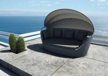 Záhradný nábytok Portofino royal sivá