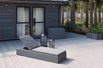 Záhradné ratanové ležadlo ALICE royal grey