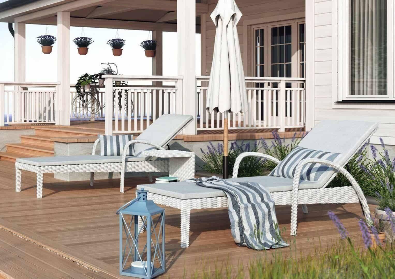 Záhradné ratanové ležadlo GRAZIA royal biela