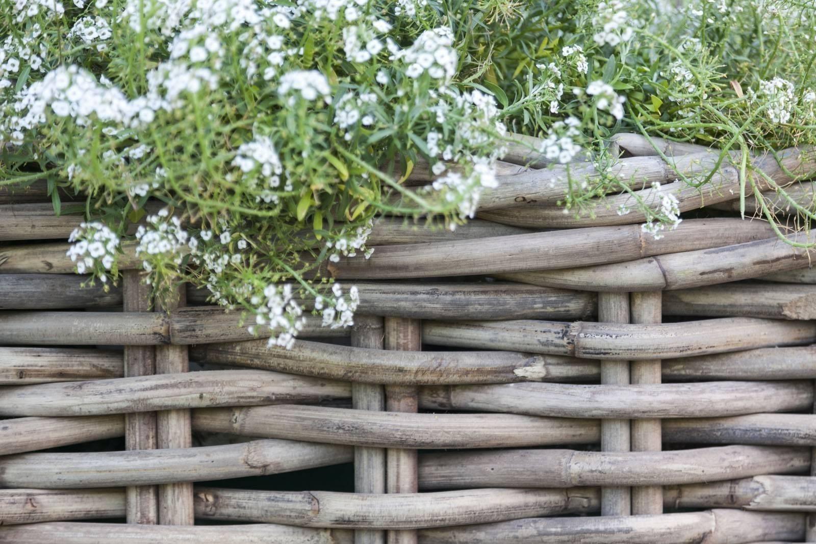 Záhradný ratanový kvetináč NARBONNE 35x35 výška35cm natur