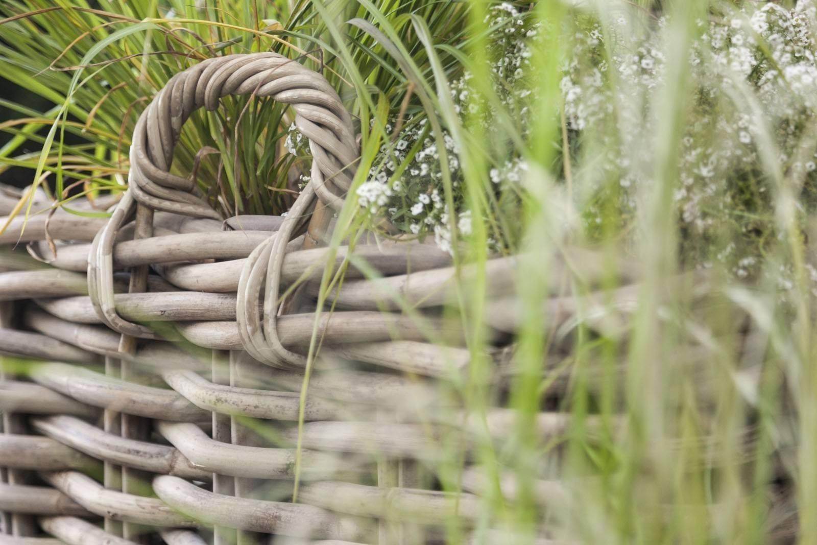 Záhradný ratanový kvetináč RENNES ⌀35 výška35cm natur