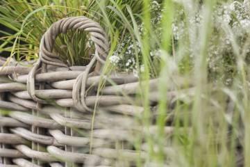 Záhradný ratanový kvetináč RENNES ⌀35 výška45cm natur