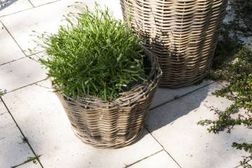 Záhradný ratanový kvetináč GRASSE Ø 52 cm x výška 48 cm