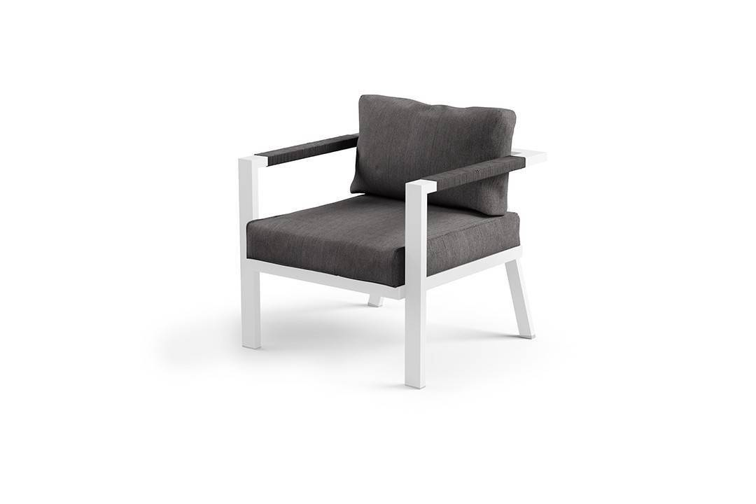 Záhradná hliníková sedacia súprava GRADO biela