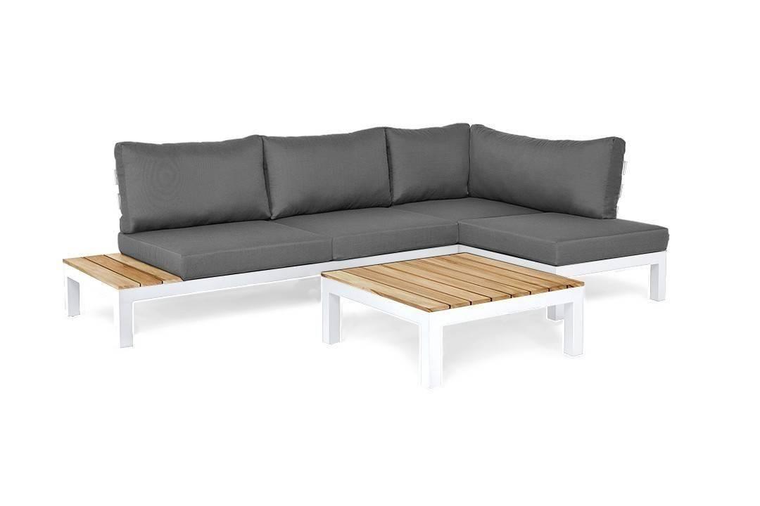 Záhradný hliníkový nábytok VITA I. pravý biela