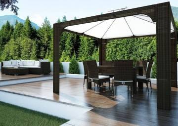 Záhradná ratanová stolička STRATO Royal siva