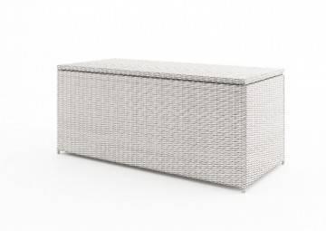 Záhradný ratanový box SCATOLA 160 Royal biela