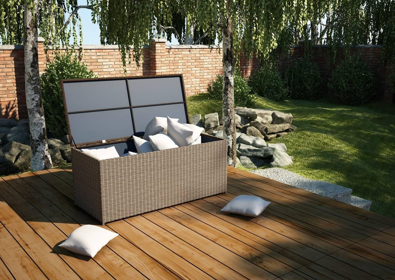 Záhradný ratanový box SCATOLA 160 Royal piesok