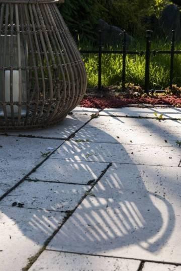 Záhradný okrúhly lampáš CAEN ⌀64cm x výška 53cm natural