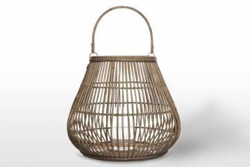 Záhradný okrúhly lampáš CAEN ⌀69cm x výška 59cm natural