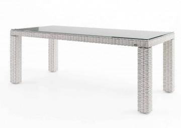 Záhradný ratanový stôl RAPALLO 220 Royal biela