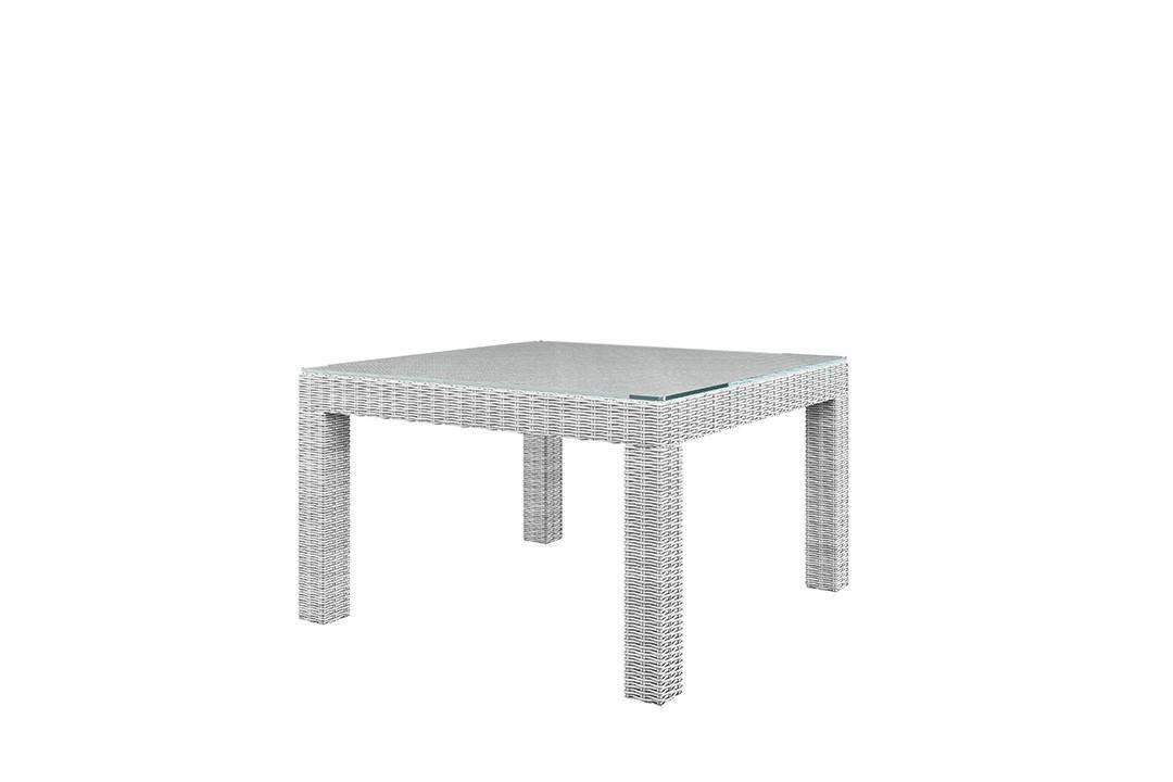 Záhradný ratanový stôl MILANO Royal biela