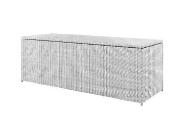 Záhradný ratanový box SCATOLA 200 Royal biela