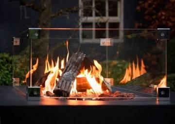 Plynové štvorcové ohnisko 60 antracit