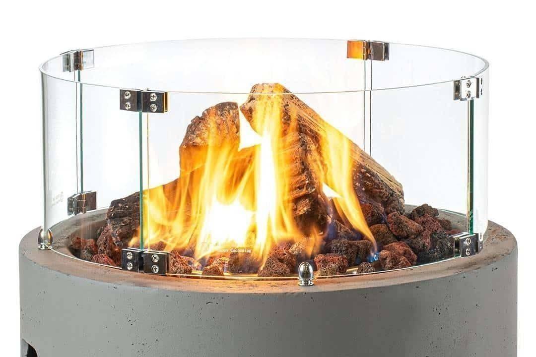 Sklenený kryt na okrúhle ohnisko