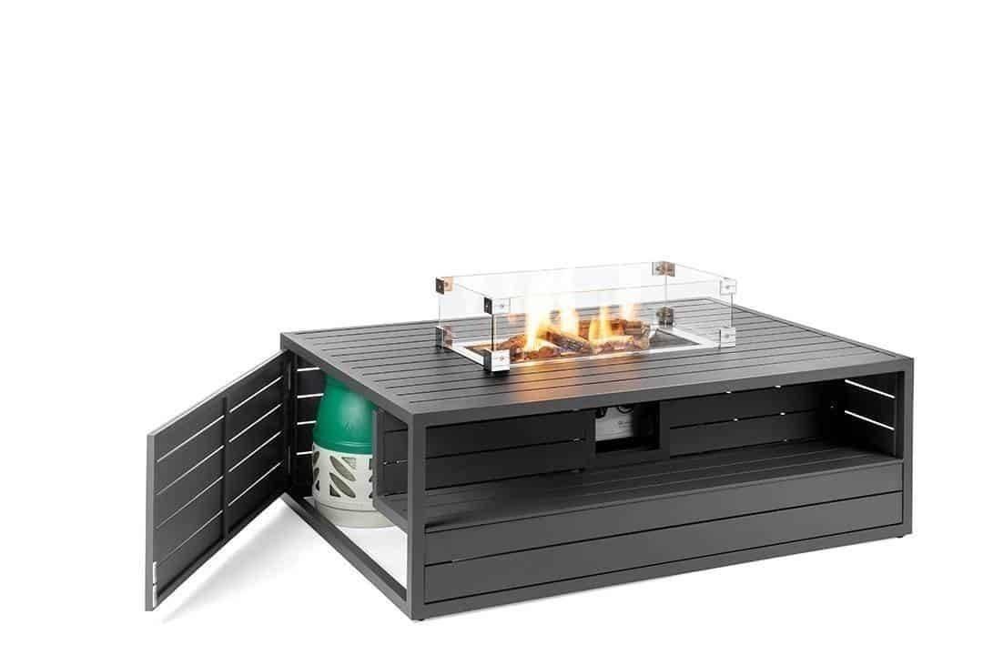 Obdlžnikové plynové ohnisko nezerové antracit