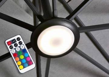 LED osvetlenie na záhradné dáždniky Platinum