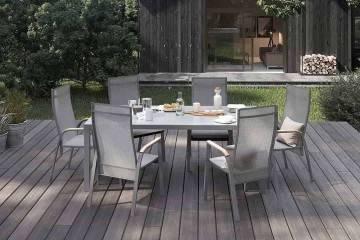 Záhradný nábytok OVIEDO sivá teak