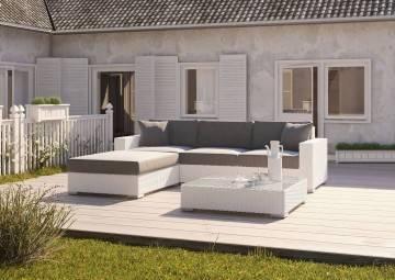 Záhradná sedacia súprava Milano I Royal biela outlet