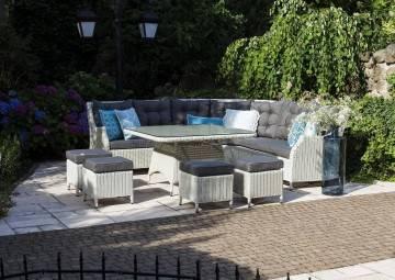 Záhradná jedálenská súprava SIENA Royal biela outlet